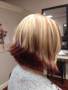 Red/copper underneath bob