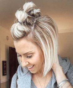 Cute hairstyles for Short Hair in 2019 Short hair styles, don't care! We a… Cute hairstyles for Short Hair in 2019 Short hair styles, don't care! We a…,Bob Cute hairstyles for. Cute Hairstyles For Short Hair, Curly Hair Styles, Simple Hairstyles, Short Haircuts, Short Bob Updo, Styling Short Hair Bob, Short Hair Braid Styles, How To Style Short Hair, Braids For Short Hair