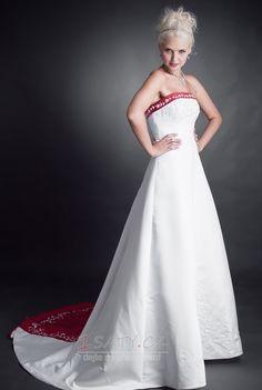 stydlivý+Střední+záda+Hruška+A-Čára+Bez+rukávů+Svatební+šaty