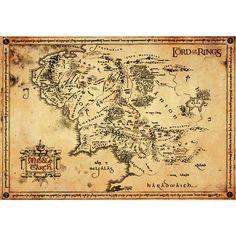 Special Edition - Echte Pergament Karte! Größe 67 x 47 cm.