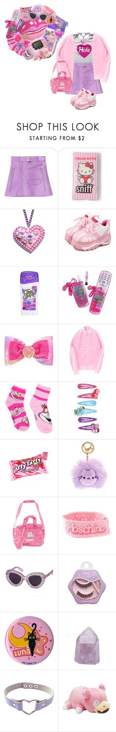 """Lip-gloss Cellphone"" by cuteghostie ❤ liked on Polyvore featuring Forever 21, cutekawaii, Disney, My Little Pony, Pusheen, Moschino, Etude House and Tarina Tarantino"