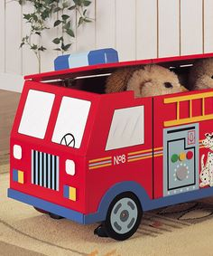 Another great find on #zulily! Fire Engine Toy Box by Teamson Design #zulilyfinds