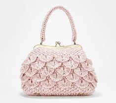 Effortlessly endearing, this compact woven raffia bag turns on the charm with sweet scalloped detailing. From Patricia Nash. Wholesale Handbags, Cheap Handbags, Purses And Handbags, Luxury Handbags, Handbag Storage, Diy Handbag, Crochet Bag Tutorials, Frame Bag, Handmade Purses