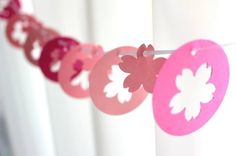 手作り桜ガーランド