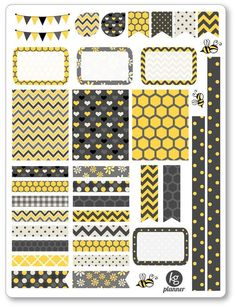 Buzz Decorating Kit / Weekly Spread Planner Stickers