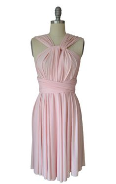 For bridesmaids, infinity style dress.