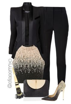 """Party Season II"" by efiaeemnxo ❤ liked on Polyvore featuring Alexander Wang, Balmain, Lace & Beads, Tamara Mellon and Jimmy Choo"