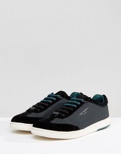 26cbb984657a0f Ted Baker Kiefer Geometric Print Sneakers - Black Ted Baker