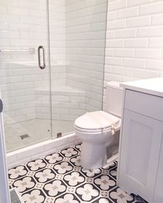 Powder room - good bang for your buck! Use pop on floor, simple/inexpensive subways on walls...