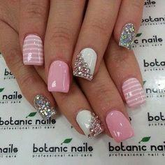 Diamonds & pink nails