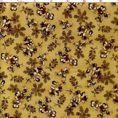 Cotton Quilt Fabric First Ladies Nancy Gere Civil War Tan Floral