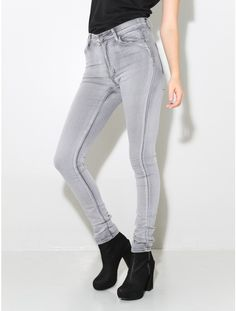 second skin jean high grey