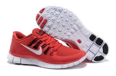 Nike Free Run+ 5.0 Zapatillas para Hombre Equipo Rojas/Blancas http://www.esnikerun.com/