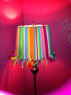 Ribbon lamp shade shes crafty pinterest ribbon lamp shades my diy lamp shade thanks to pinterest oh and my large stock of aloadofball