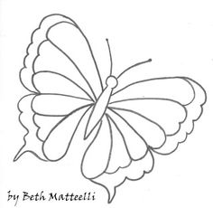 BETHARTE: Risco para Pintura em Tecido - Borboleta Quilling Butterfly, Diy Butterfly, Butterfly Pattern, Butterflies, Drawing Templates, Drawing Sketches, Drawings, Coloring For Kids, Coloring Books