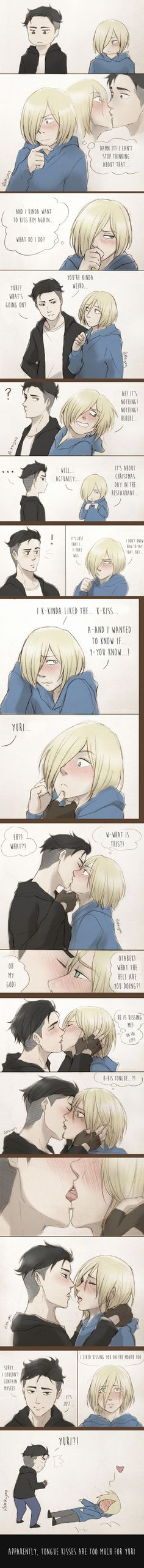 Yaoi Bien Perrum - otabek x yurio Yuri Plisetsky, Me Anime, Anime Love, Anime Couples, Cute Couples, Love Kiss Couple, Yurio And Otabek, Yuri On Ice Comic, Yuri!!! On Ice