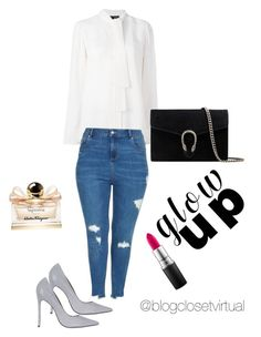 Hardly sexy by ednamarizete on Polyvore featuring polyvore, fashion, style, Proenza Schouler, Topshop, Gucci, MAC Cosmetics, Salvatore Ferragamo and clothing