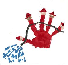 Fire fighters hand print