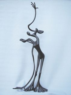 Bronze Figurative Abstract sculpture by artist Plamen Dimitrov titled: 'Flamenco' £1250 #sculpture #art