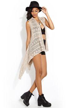 Cozy Time Sleeveless Cardigan   FOREVER21 #Capsule #SummerForever