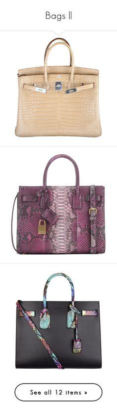 """Bags   "" by nextxxi ❤ liked on Polyvore featuring bags, handbags, hermes, purses, bolsas, croc handbags, crocodile embossed handbags, beige purse, beige handbags and handbags purses"