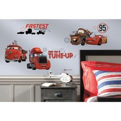 RoomMates RMK2533SCS Cars Friends to The Finish Peel and Stick Wall Decals RoomMates http://www.amazon.com/dp/B00K1FVSU0/ref=cm_sw_r_pi_dp_l4a7tb1WTKE5F