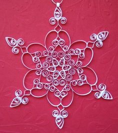 Another Quilled Snowflake...
