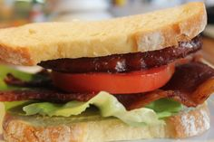 BLT Sandwich with Andouille Sausage and Lick the Bowl Sauce-Creole Contessa Creole Recipes, Cajun Recipes, Cajun Food, Sandwich Shops, Soup And Sandwich, Sammy, Good Food, Yummy Food, Wrap Sandwiches