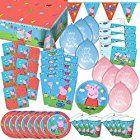 Peppa Wutz Partybox original Kindergeburtstag 63-teilig Deko Peppa Pig Partypaket