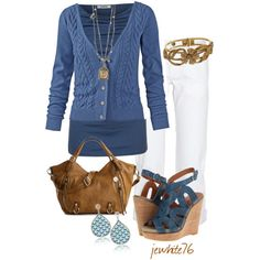 """""""Easy Blue"""" by jewhite76 on Polyvore"""