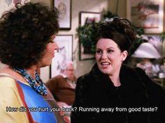 Karen Walker Will and Grace | Karen Walker giving marvelous fashion tips. | 26 ... | Makes me LAUGH