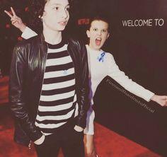 Awww Millie photobombing Finn