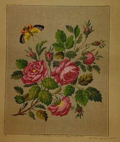A Lovely Berlin WoolWork Rose Pattern Produced By L W Wittich In Berlin ~ eBay.de