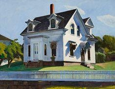 Edward Hopper Hodgkin's House, Cape Ann - The Largest Art reproductions Center In Our website. American Art, Landscape Paintings, Rural Scenes, Painting, Ashcan School, Art, American Realism, Edward Hopper, Edward
