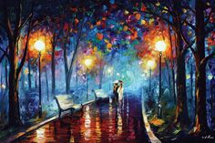 Misty Mood by Leonid Afremov is printed with premium inks for brilliant color and then hand-stretched over museum quality stretcher bars. 60-Day Money Back Guarantee AND Free Return Shipping.