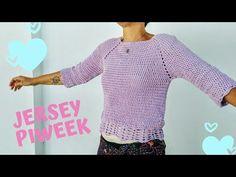 oh mami crochet Crochet Poncho, Crochet Yarn, Crochet Summer Tops, Summer Patterns, Pullover, Crochet Patterns, Knitting, Youtube, Videos