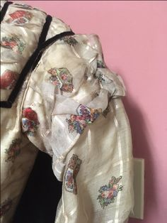 Sleeve detail for barred wool barege bodice. Historical Society, Bodice, Detail, Wool, Sleeves, Bags, Fashion, Handbags, Moda