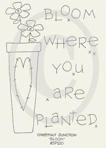 Bloom where you are planted - bloempot