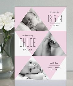 Baby Announcement Cards on Behance