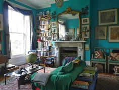 colorful english interiors | What we are reading this week about decorating and renovating old ...