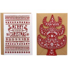 scandi laser cut Christmas cards, Paperchase