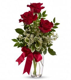 Triple Rose Delight - Red