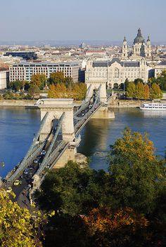 Chain Bridge - Budapest    The beautiful bridge over the Danube