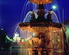 Court Square Fountain-(This beautiful fountain is topped by a statue of Hebe, Goddess of Youth and Cupbearer to the Gods and was built in 1885 over an existing artesian basin)- Alabama Attractions Montgomery Alabama, Visitors Bureau, Free Vacations, Sweet Home Alabama, Capitol Building, World Cities, U.s. States, Hotel Spa, North America