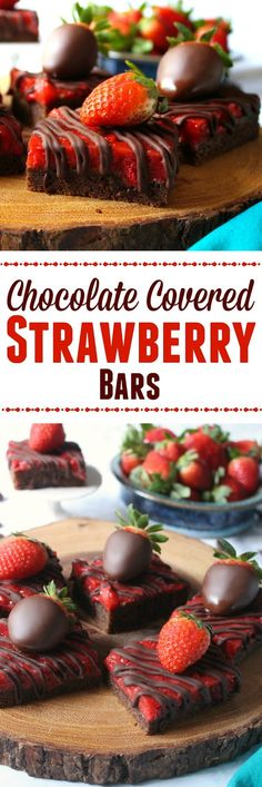 Love and Confections: Chocolate Covered Strawberry Bars (Chocolate Desserts Strawberry)