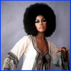 Marsha Hunt in a lovely top and large afro hair. Vintage Black Glamour, Vintage Beauty, Vintage Hair, Black Power, Meagan Good, Hippie Man, My Black Is Beautiful, African Beauty, Afro Hairstyles
