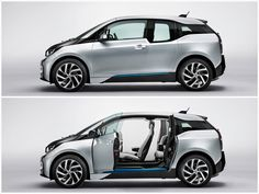 2014 BMW - electric car that doesn't sacrifice an ounce of style. Bmw I3 Rex, Affordable Electric Cars, Bmw Electric Car, Bmw 2014, Best Hybrid Cars, Hatchback Cars, Amazing Cars, Awesome, Autos