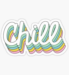 Retro Chill Sticker