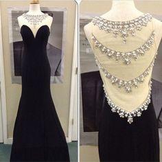 Mermaid Prom Dress Formal Evening Dress Crystal Evening Dress Elegant Evening Dress