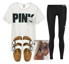 レ∆zㄚ ∂∆ㄚ ∆ɬ ɬサ∑ レ∆к∑ ☀ by shenry2016 on Polyvore featuring Victoria's Secret, NIKE and Birkenstock